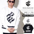 ROCA WEAR ロカウェア トレーナー メンズ 大きいサイズ ロゴ b系 ヒップホップ ファッション 服 通販 RW183K11