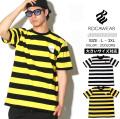 ROCAWEAR ロカウェア 半袖Tシャツ メンズ 大きいサイズ ボーダー柄 b系 ヒップホップ ファッション 通販 RW181K23 RWTT400