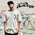 10DEEP(テンディープ)ベースボールシャツ(半袖)/12TD4220/ホワイト(クリーム) b系 ストリート系 ファッション 服 通販 激安 セール SALE