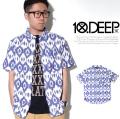 10DEEP テンディープ シャツ メンズ 半袖 総柄 41TD3231 ヒップホップ 服 ストリート系 ファッション tdo029