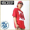 10DEEP【テンディープ】 S/S Tシャツ STYLE:01TD4306●カラー:レッド(赤色) b系 ストリート系 ファッション 服 通販 激安 セール SALE