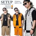 セットアップ 半袖 メンズ 上下 B系セットアップ B系ファッション tos007 b系 ストリート系 ファッション 服 通販 激安 セール SALE