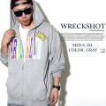 WRECK SHOT/レックショット/ZIPパーカー/B系/ヒップホップ/ストリート/メンズファッション/wrs206 b系 ストリート系 ファッション 服 通販 激安 セール SALE