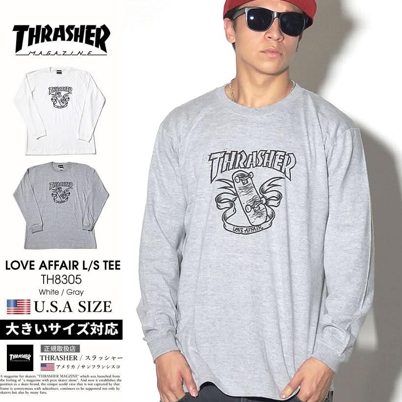 THRASHER スラッシャー ロンT 長袖Tシャツ メンズ スケーター スケボー スケートボード ストリート系 ファッション TH8305 服 通販 TSTT114
