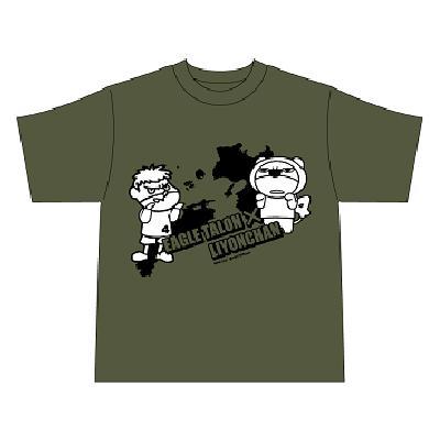 秘密結社 鷹の爪×らいよんチャン(入団!)Tシャツ
