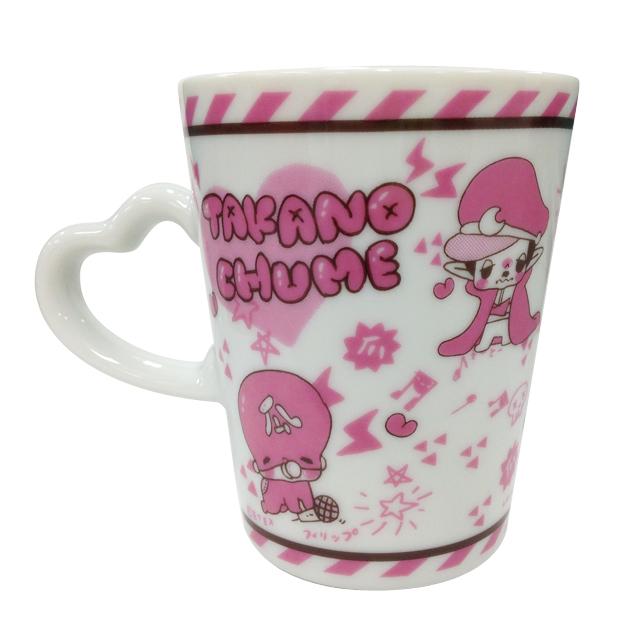 たかのちゅめ ハート型マグカップ