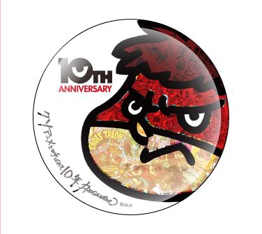 鷹の爪 10周年記念缶バッチ