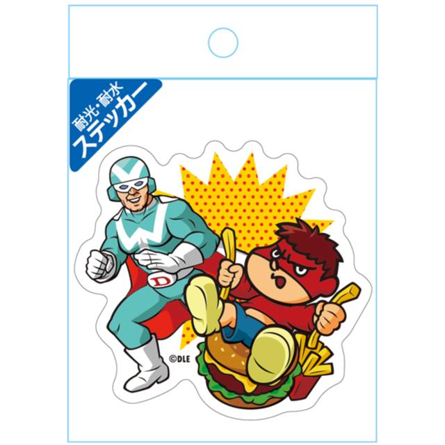 鷹の爪 耐光・耐水ステッカー 吉田くん&デラックスファイター