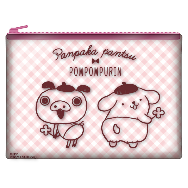 ポムポムプリン×パンパカパンツ クリアポーチB