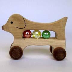 【★手作り★】 天然木使用 木のおもちゃ ゴールデン ☆ビー玉入り☆