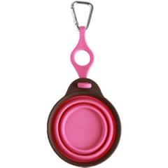 ぺたんこボウル ボトルホルダー付きSサイズ ピンク