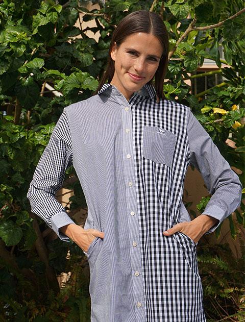 【WOMEN】ロング丈クレイジーパターンシャツ