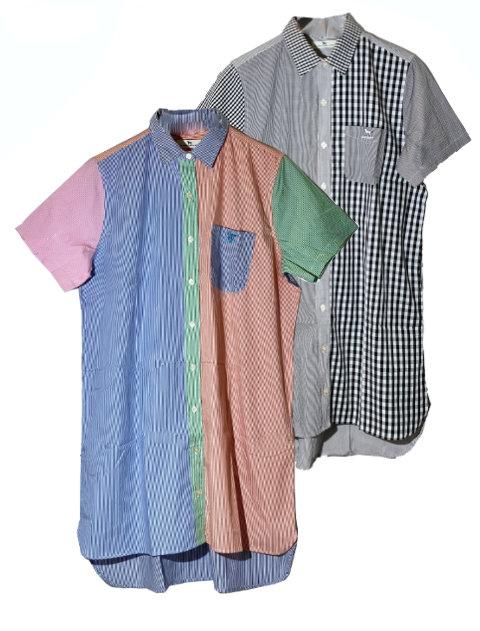【WOMEN】ロング丈クレイジーパターン半袖シャツ