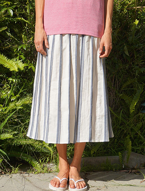 【WOMEN】ドビーストライプスカート