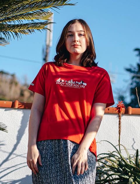 【WOMEN】SWEATRESSFREE ドッグイラストTシャツ