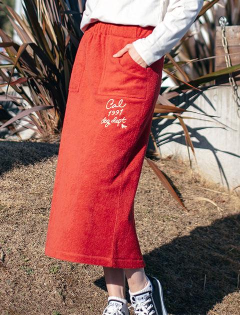 【WOMEN】パイルカリフォルニアスカート