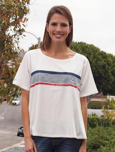 【WOMEN】ボーダープリントTシャツ
