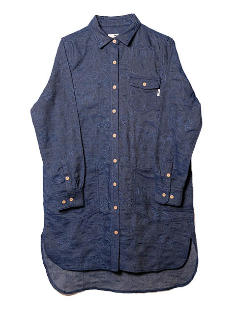 【WOMEN】ドッグ&スターステッチロングシャツ