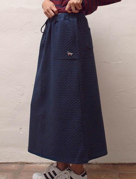 【WOMEN】ふくれジャガードロングスカート
