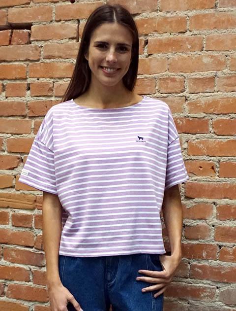 【WOMEN】日本製バスクTシャツ