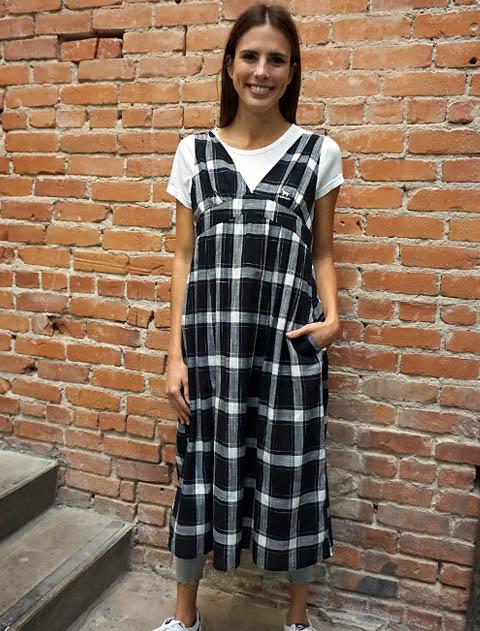 【WOMEN】シャツワンピース Tシャツ付き