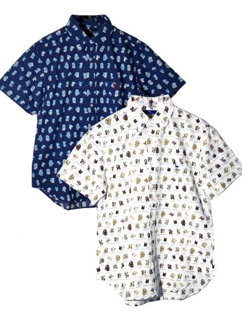 【UNISEX】犬柄サッカーシャツ