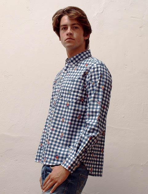 【UNISEX】Hello.MAX 総柄B/Dシャツ