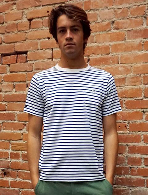 《2点以上でさらに10%OFF対象》【UNISEX】日本製 バスクポケTシャツ