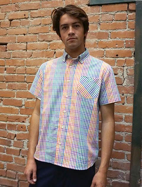 【UNISEX】チェック 半袖B/Dシャツ