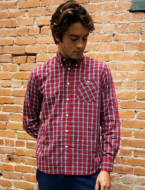 【UNISEX】チェック長袖B/Dシャツ