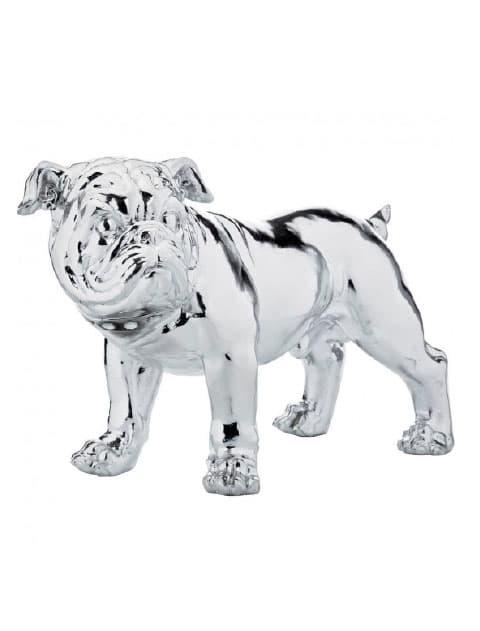 【GOODS】Deco Figurine Bulldogge Silver Econo
