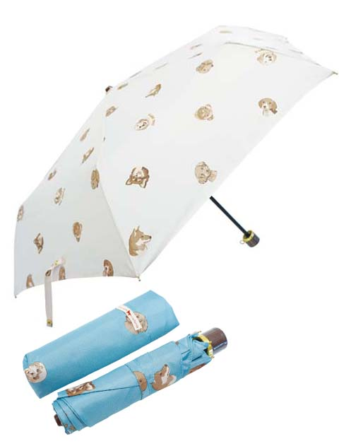 【GOODS】犬柄 折り畳み傘 晴雨兼用