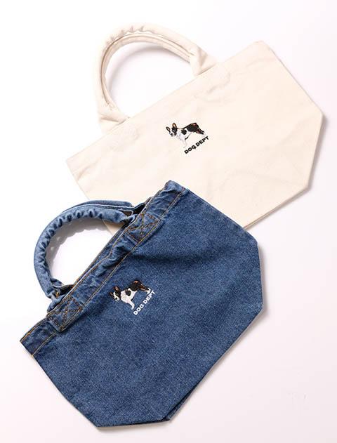 【GOODS】リアルドッグ刺繍バッグ ボストン