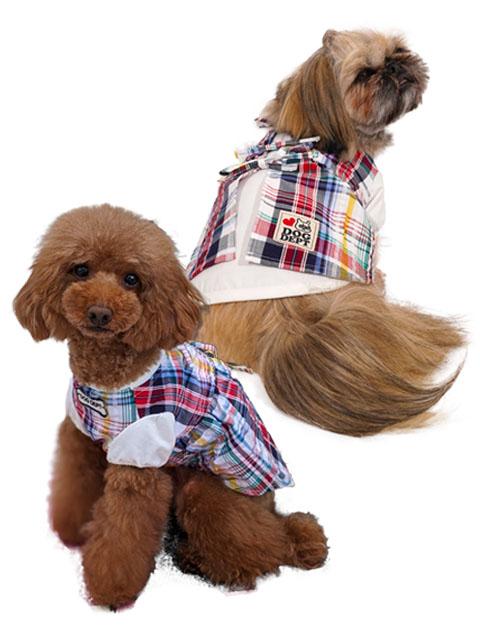 【DOG WEAR】チェックペア ワンピース