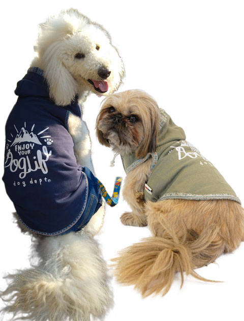 【DOG WEAR】ネイティブ リバーシブルノースリーブパーカー