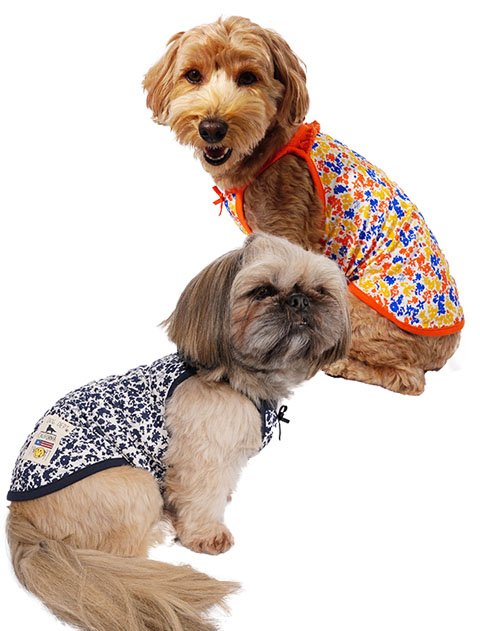 【DOG WEAR】アウトラスト生地 フラワーパターンキャミ