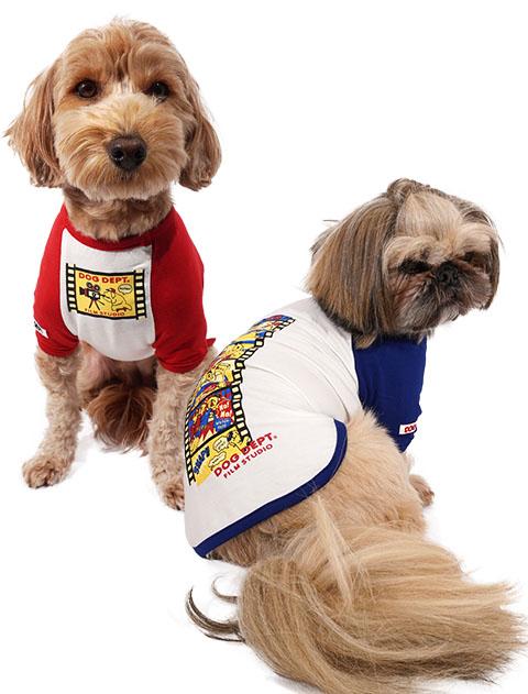 【DOG WEAR】おすわりフィルム アウトラストラグランTシャツ