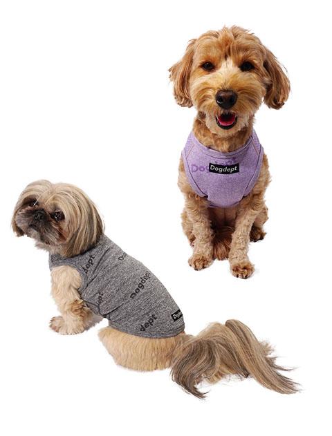 【DOG WEAR】ジャガードロゴ ノースリーブ