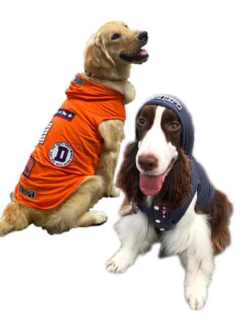 【DOG WEAR】スラブクラシックワッペンパーカー