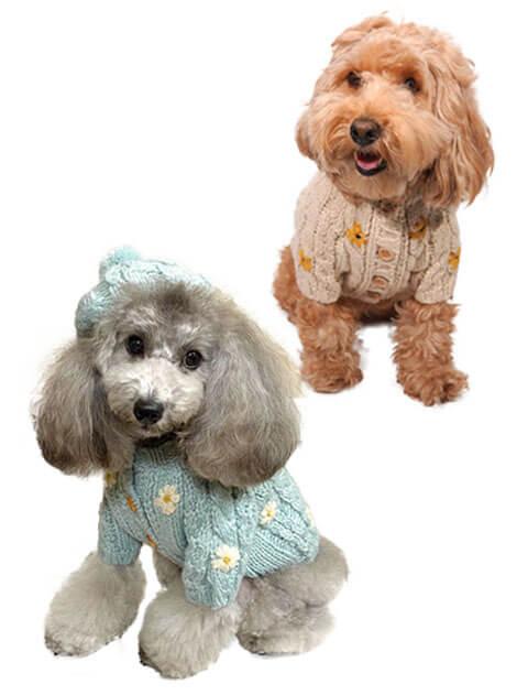 【DOG WEAR】マーガレットニットカーデ