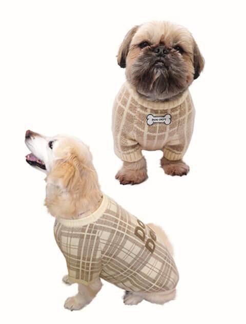 【DOG WEAR】チェックニット