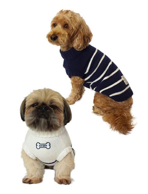 【DOG WEAR】モコモコボーダータートル