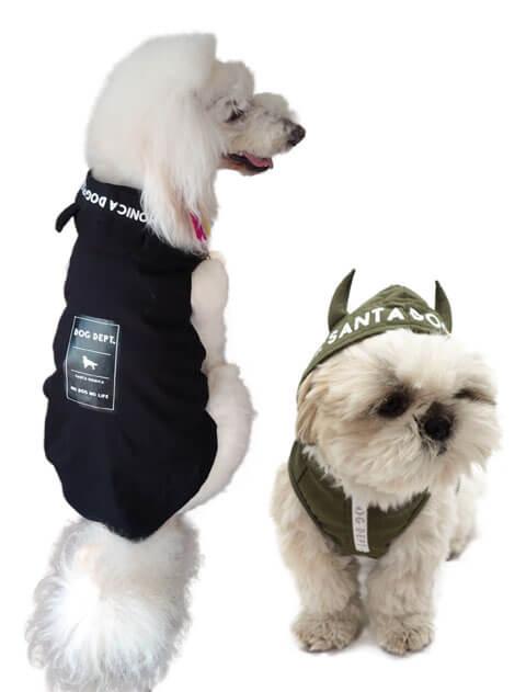 【DOG WEAR】撥水ストレッチ パーカー