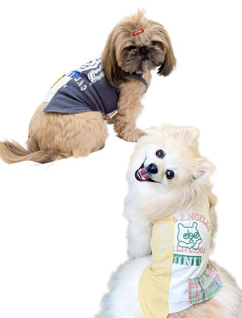 【DOG WEAR】リメイク風 ノースリーブ