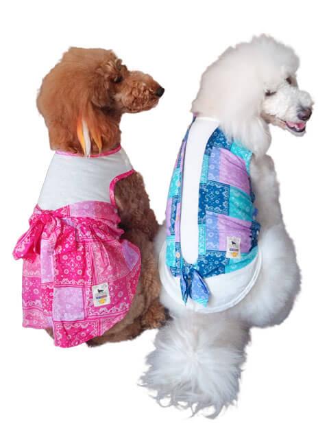 【DOG WEAR】ペイズリーパッチワーク ペア