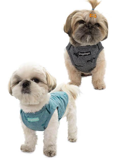 【DOG WEAR】ドッグパターン ノースリーブ