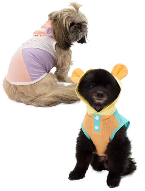 【DOG WEAR】FUN WITH YOU  切り替えメッシュパーカー
