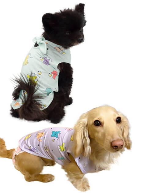 【DOG WEAR】ワンワンメッシュノースリーブ