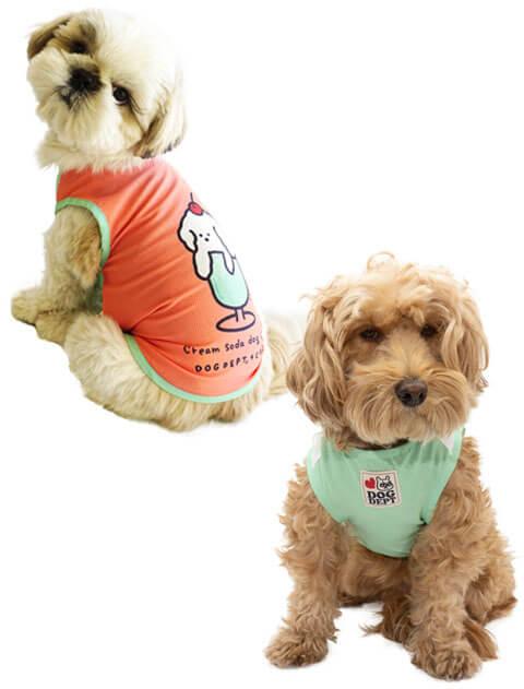【DOG WEAR】クリームソーダー メッシュノースリーブ