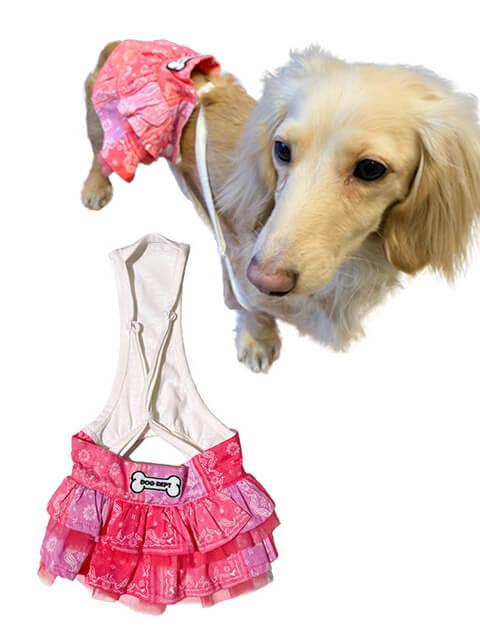 【DOG WEAR】ペイズリーパッチワークスカート